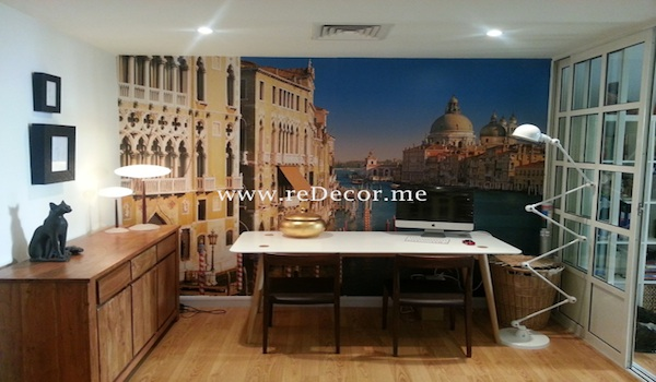 3D wallpaper with Venice view