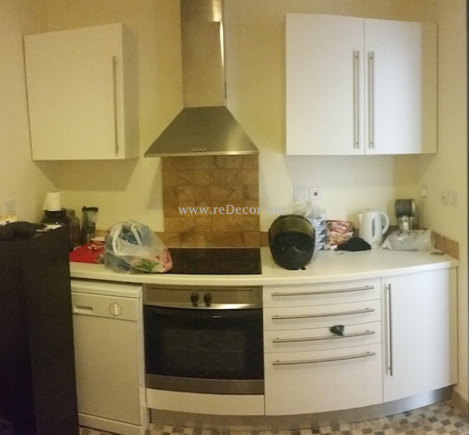 old kitchen upgrade in Dubai, tecom Two towers . Small change big difference