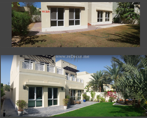 Garden landscaping, outdoor furniture restoration, irigation system, outdoor tiling Dubai Meadows