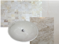 greens bathroom remodelling, modern, marble, walk in shower, storage, design and turn key by erika pace, dubai