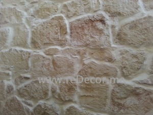 plastering old stone walls