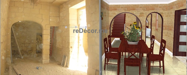dining restoration and 3D interior decor for the house