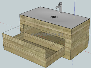 sketchUp box drawings for cabinet