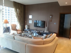 luxurious living interior decor design in Palm jumeirah, Oceana