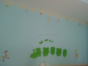 wall stencils for kids with stickers