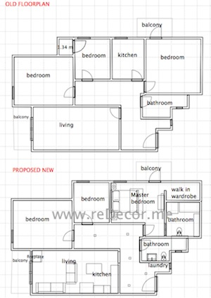 proposed floor plan for renovation by erika pace malta dubai