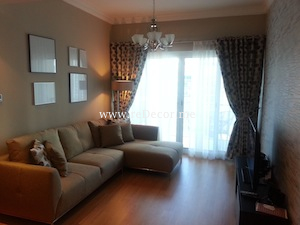 cozy modern grey brown simple interior decor dubai JLT lakeview