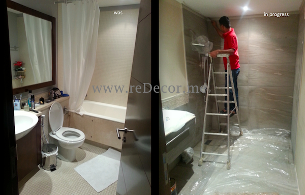 Renovation bathrooms apartment makeover bathroom renovation redecorme Bathroom design jobs dubai