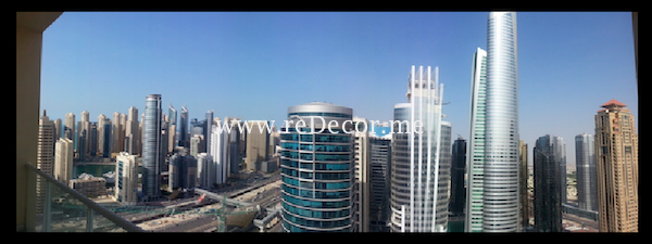 beautiful view from my work place in JLT LakeView tower
