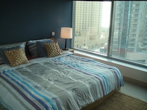 interior bedroom decor and blue design