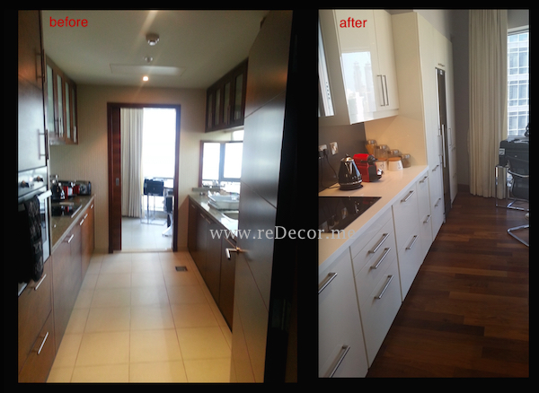 kitchen before and after design Downtown Dubai