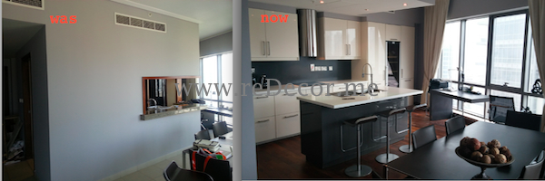 kitchen remodelling was and now in downtown dubai