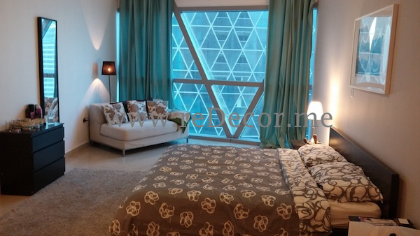 Large hotel style bedroom with white grey and baby blue, interior decor consultation, design, dubai, DIFC