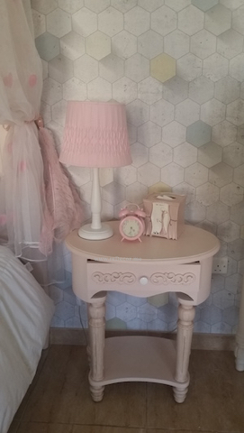 teen room with pink and grey, 3Dwallpaper, pink furniture teenager room