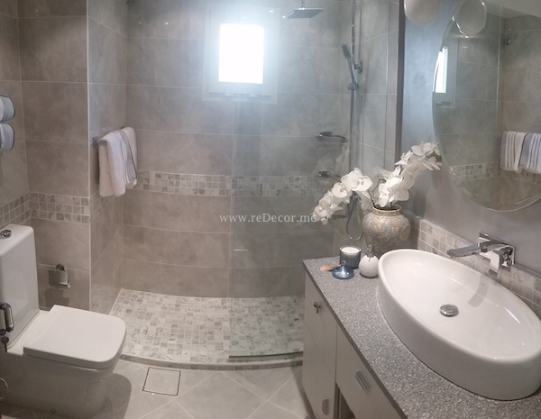 Complete master guests powder room maid 39 s bathroom renovation remodelling and design in - Bathroom accessories dubai ...