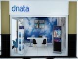 travel stand design, dnata, dubai, designer, consultation, fit out, dubai, silicon oasis, cloud wallpaper, map wallpaper, perswall wallpaper