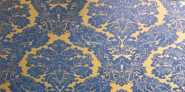 blue with yellow wallpaper Dubai