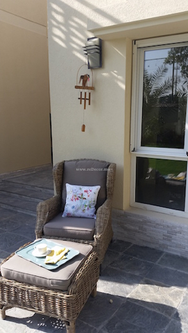 outdoor seating, custom made cushions, outdoor furniture, landscaping Dubai interior