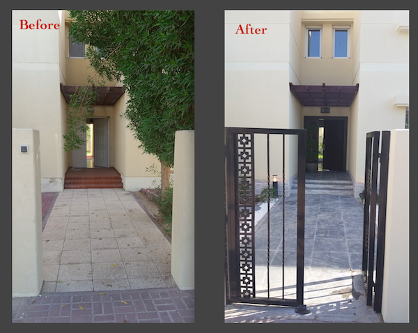 Garden and outdoor organising, Dubai landscaping, outdoor door best wood