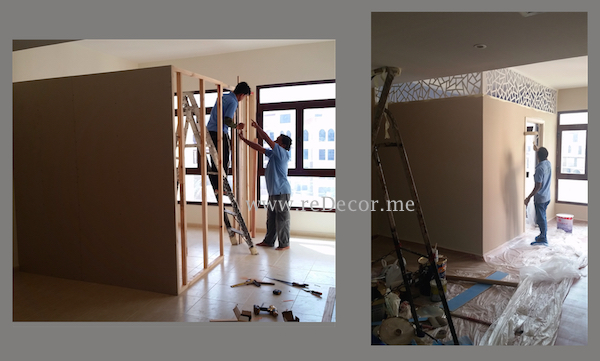 Build Partition, Separate Rooms Dubai Interiors, Design, Electrical Work,  Construction Residential,