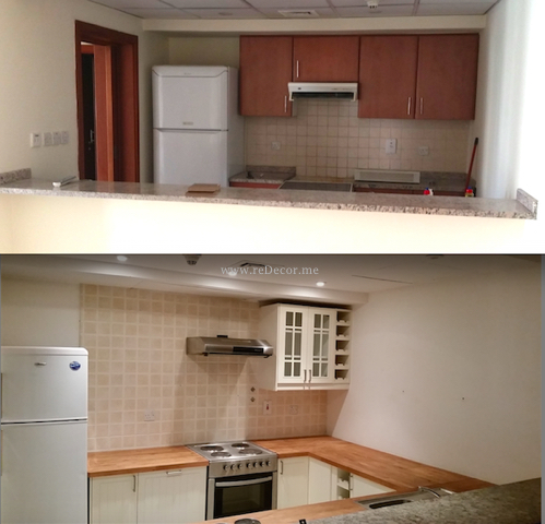 Small white kitchen remodelling with ikea redecorme for Kitchen designs dubai