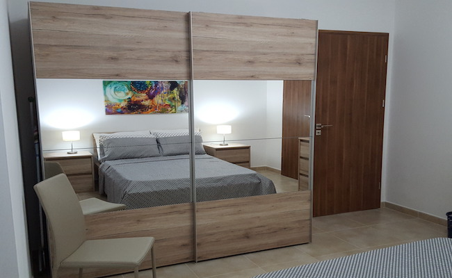 modern bedroom decor, simple, malta fit outs, consultation, apartment for rent in Malta