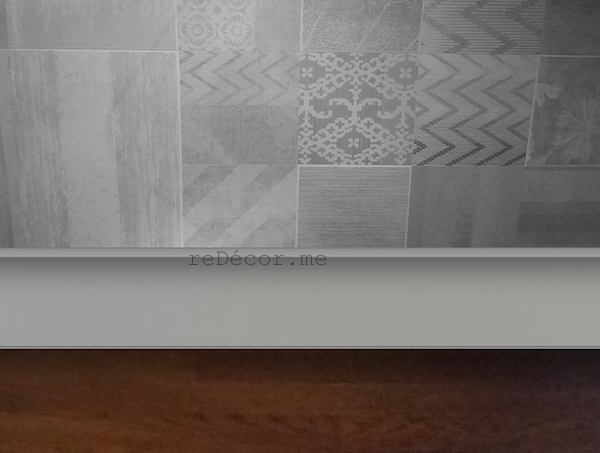 modern tiles, grey patterns, Kitchen remodeling in Old Greens, dubai, design and consultation, wooden kitchen counter
