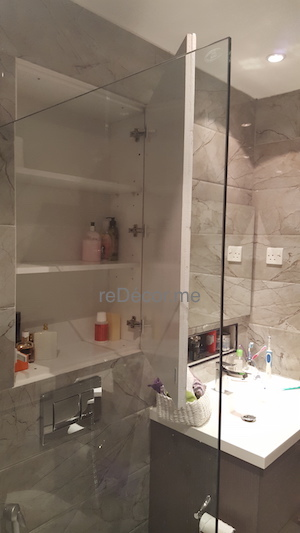 Amazing  Cabinet Storage Bathroom Remodelling In Springs Fit Out Jobs Dubai
