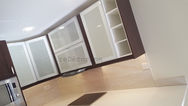 brown modern kitchen, before after kitchen in Greens, design, remodelling, dubai, fitted rangehood