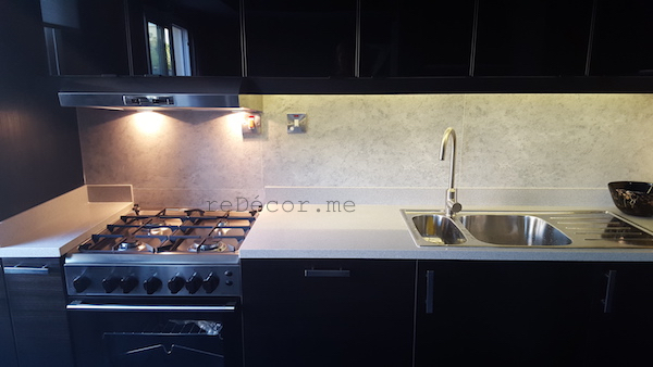 kitchen remodeling in Springs, Dubai interior design, consultation, from white to black, smart black kitchen