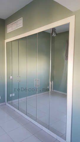 mirror wardrobe, enlarge room, Master bedroom decor, ideas, style, bachelor living, consultation Dubai