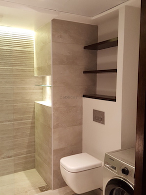 bathroom remodeling, modern, grey, Vitra, dubai design, walk in shower, executive towers, business bay, consultation by erika pace, sliding door, laundry in bathroom
