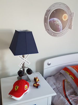 blue boys space planet room, decor, design, dubai kids room decor
