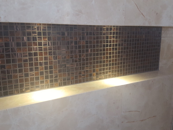 walk in shower, built in toiletries shelf, custom made cabinet storage, bathroom remodelling in Springs, fit out jobs dubai, interior consultation, 3D design