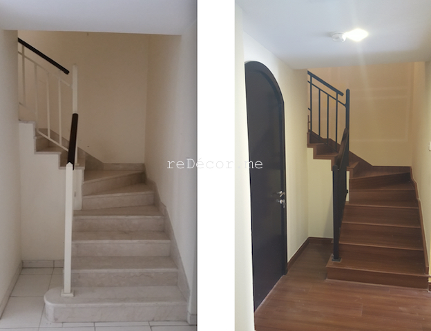 remodelling, renovation, new stairs, springs villa, laminate flooring