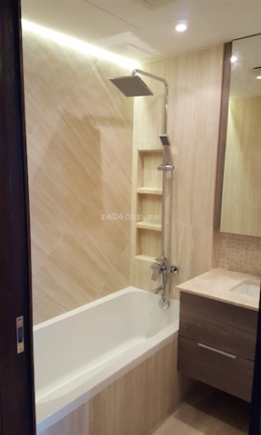 Beautiful Master Bathroom From Bathtub To Nice Walk In Shower With Built In