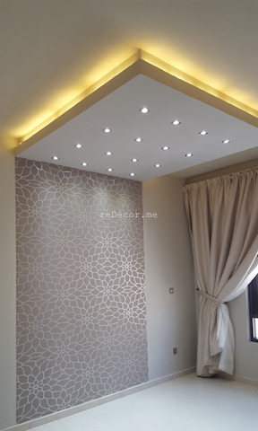 Master bedroom interior decor, Fit out jobs in Dubai, interior decor and design, consultation, ideas, gypsum ceiling, lighting solutions, modern cozy interiors, Old greens, kitchen remodelling, kids rooms, earthy colors, wall TV ikea unit, wall mirror