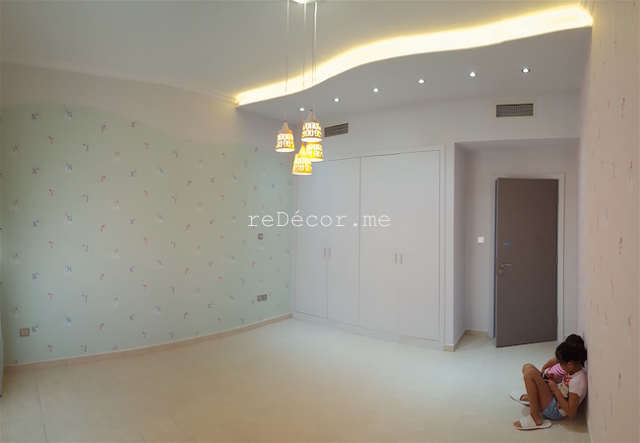 Kids room decor, consultation, girls room, Master bedroom interior decor, Fit out jobs in Dubai, interior decor and design, consultation, ideas, gypsum ceiling, lighting solutions, modern cozy interiors, Old greens, kitchen remodelling, kids rooms, earthy colors, wall TV ikea unit, wall mirror, chalk board paint, pink with mint