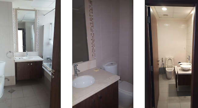 Innovative Cabinet Storage Bathroom Remodelling In Springs Fit Out Jobs Dubai