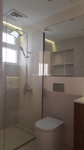 bathroom fit out dubai, remodelling, Master, 2nd bedroom and guest room bathroom remodelling, fitout dubai, bathroom fitout, design, consultation, practical, sliding shower doors, mirror cabinets, springs villa 4M, built in shower shelves, before and after bathrooms