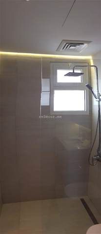 bathroom fit out dubai, remodelling, Master, 2nd bedroom and guest room bathroom remodelling, fitout dubai, bathroom fitout, design, consultation, practical, sliding shower doors, mirror cabinets, springs villa 4M